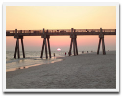 Pensacola Beach Boardwalk Sunset