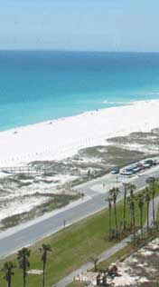 The Gulf of Mexico in Pensacola Beach